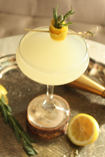 Tongue and Groove Lemon Rosemary Cocktail