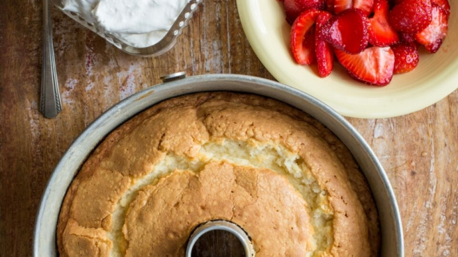 Southern Pound Cake with Strawberries and Fresh Whipped Cream by Lucy Buffett