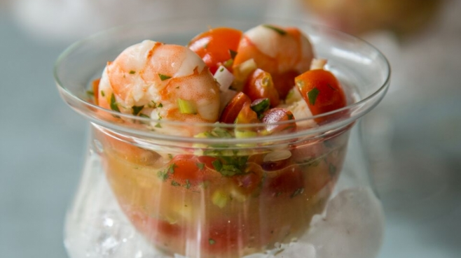 Spicy shrimp ceviche by Lucy Buffett