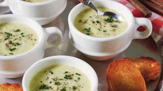 Zucchini Vichyssoise or cold zucchini soup